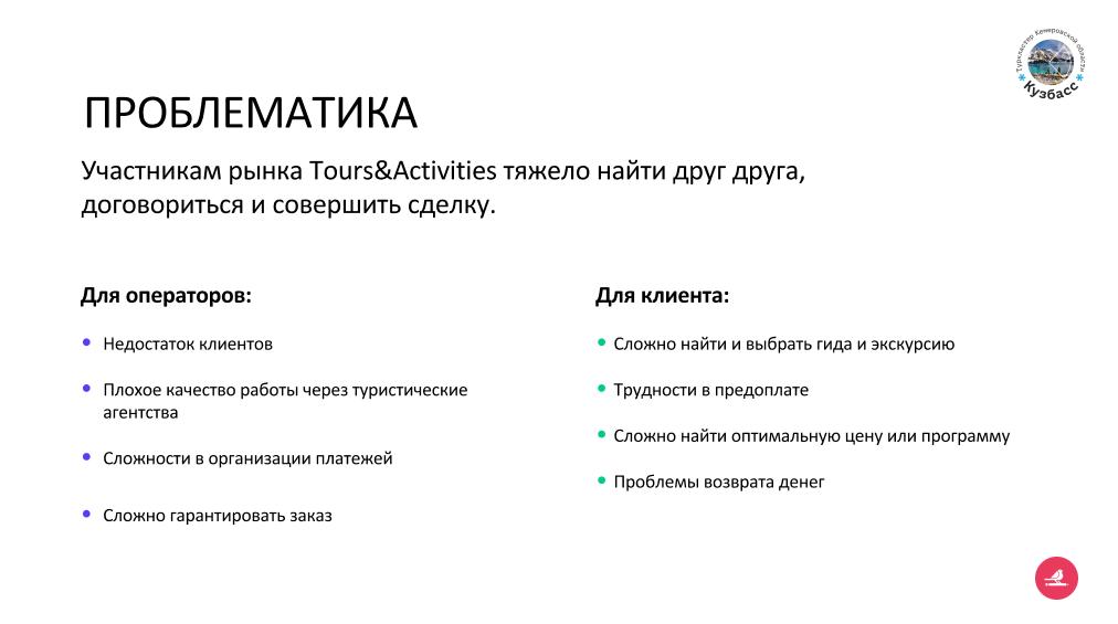 Проблематика туристического рынка Кузбасса
