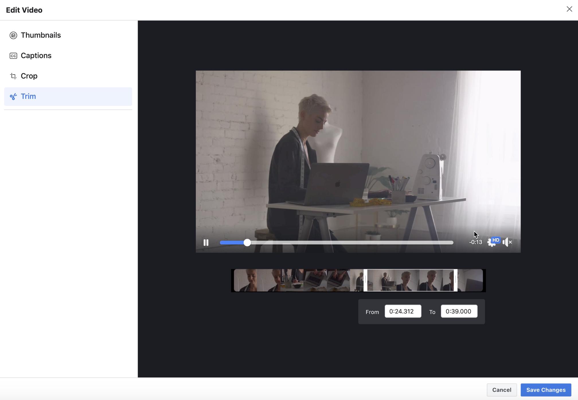 Создание видеорекламы в Фейсбуке для малого и среднего бизнеса