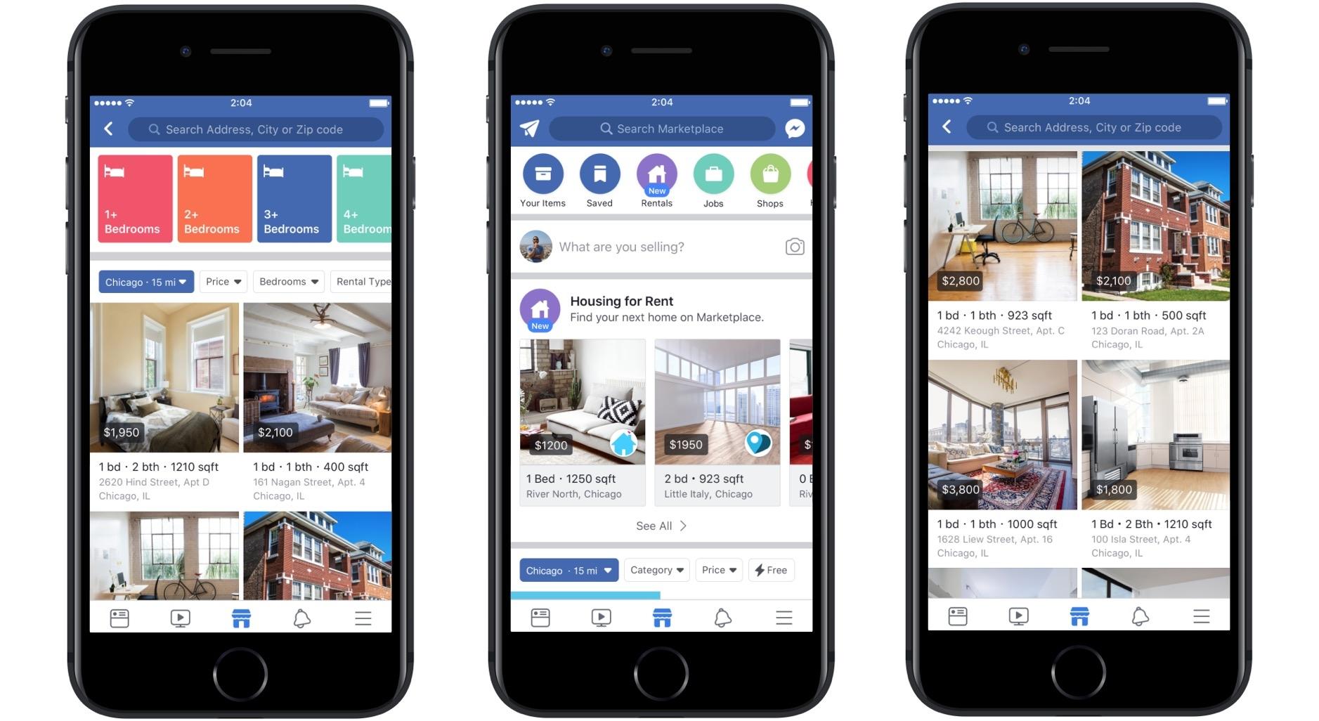 На Facebook Marketplace появился сервис аренды жилья
