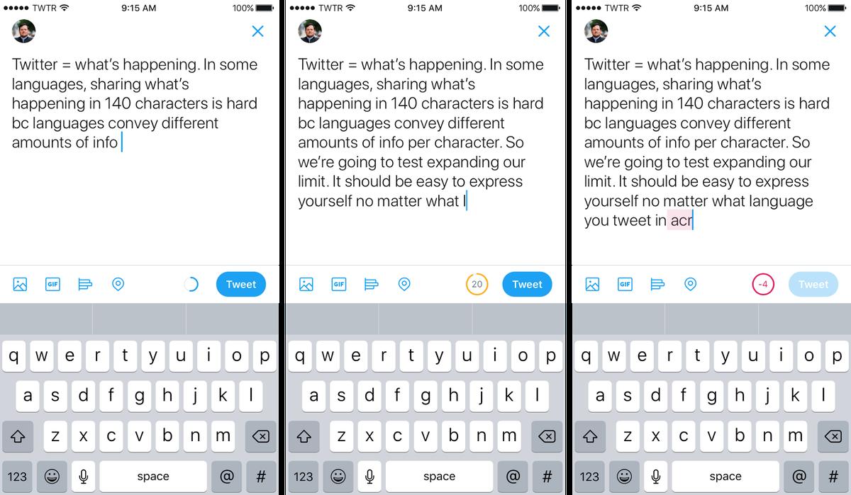 Twitter увеличит объём публикаций до280 символов вместо классических 140