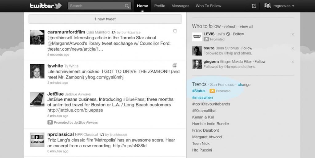 Promoted trends в Twitter