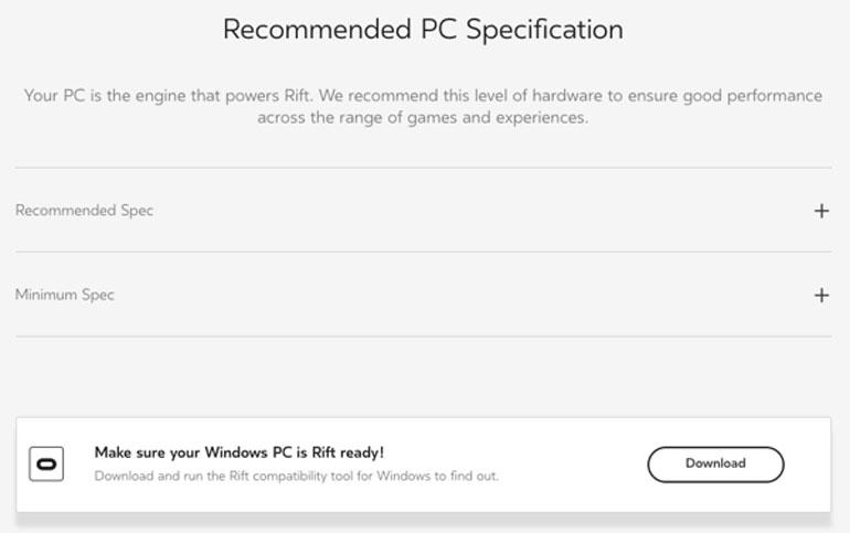 Специальный тест для оценки мощности компьютера перед покупкой VR-комплекта Oculus