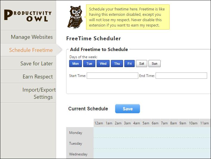 Productivity Owl для борьбы с прокрастинацией - бесплатно в браузере Google Chrome