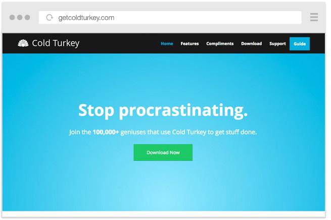 ColdTurkey ограничит доступ ко всем отвлекающим программам
