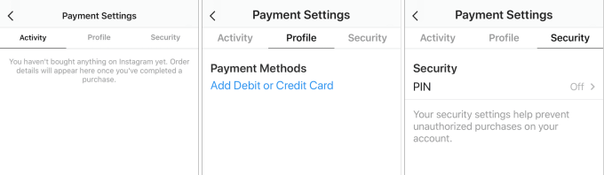 Встроенные платежи в Instagram