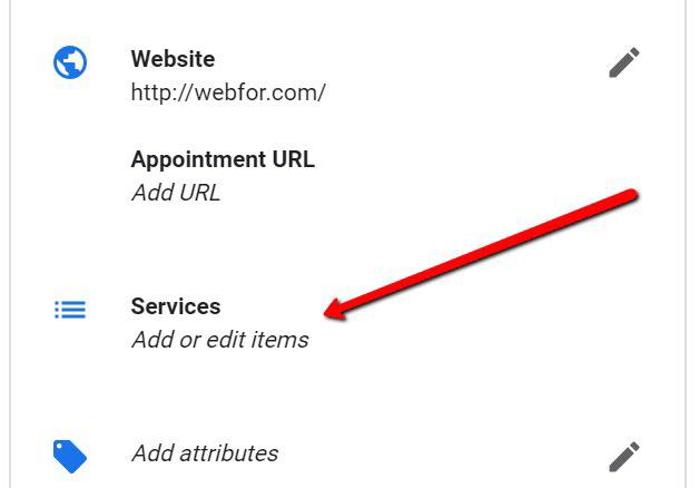 Новая функция Google Мой бизнес Services