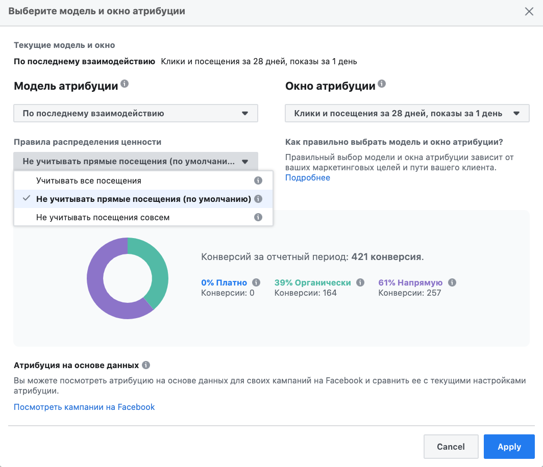 в Facebook Analytics