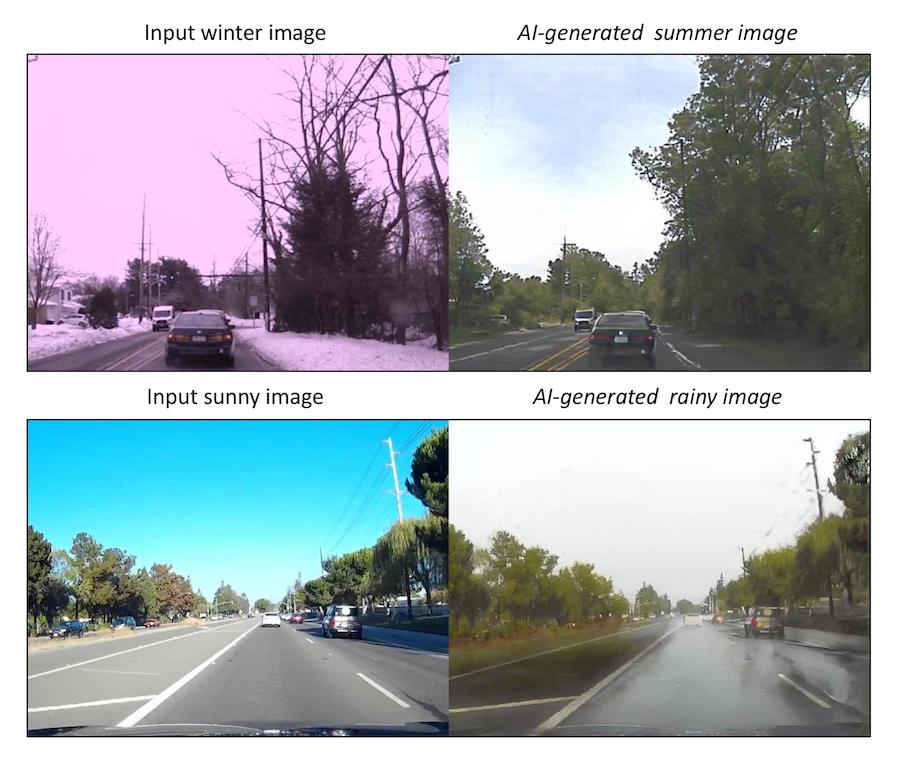 Нейросеть Nvidia научилась менять погоду на видео
