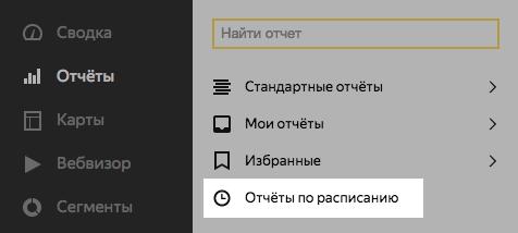 Отчёты по расписанию в Яндекс.Метрике