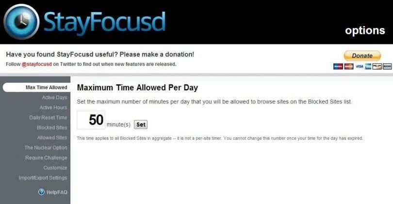 StayFocusd - расширение для Chrome, которое ограничит время на отвлекающих сайтах