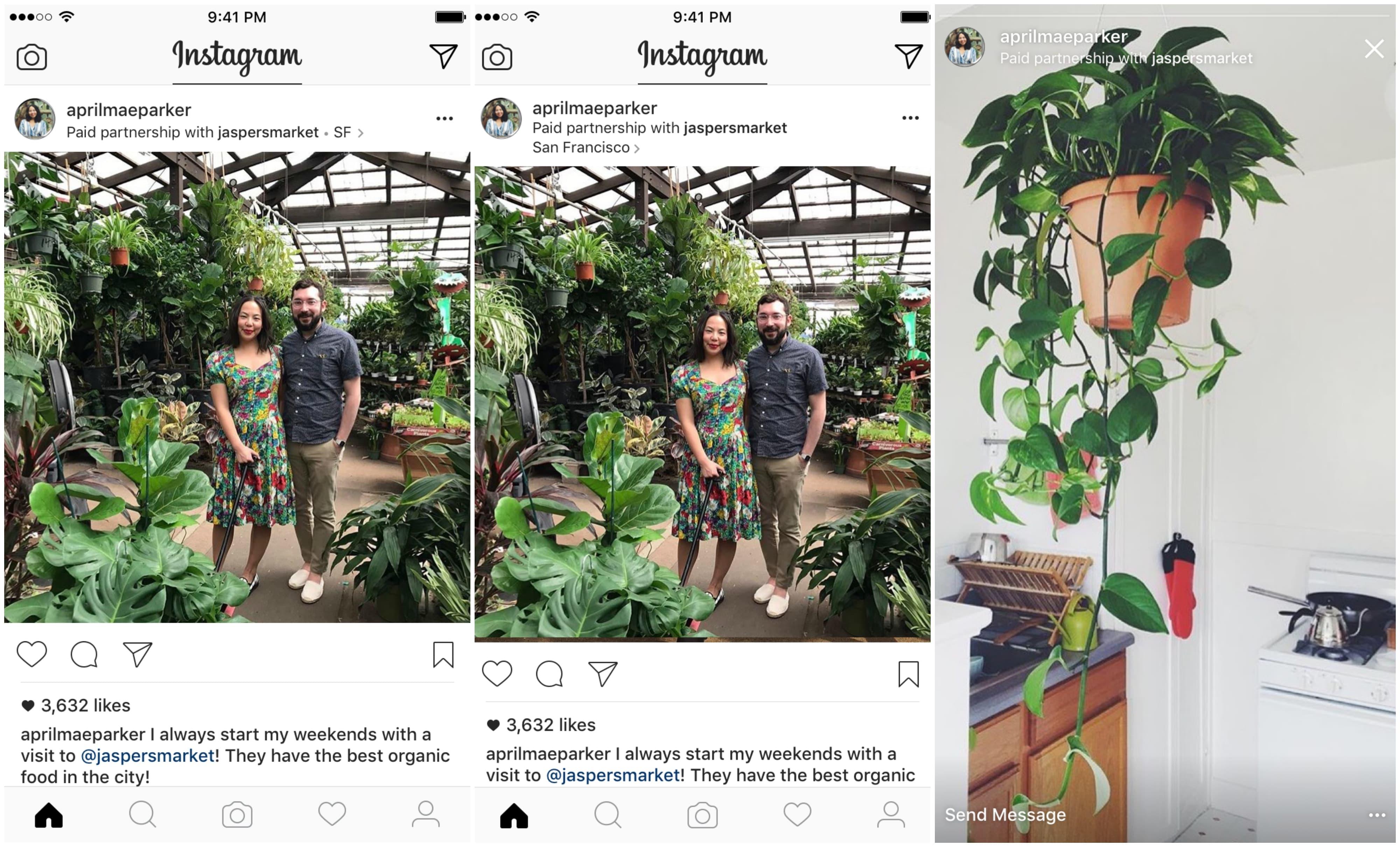 Партнёрские публикации в Instagram