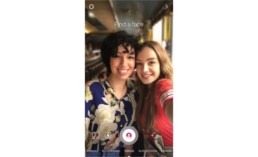 Режим съёмки «Фокус» в Instagram