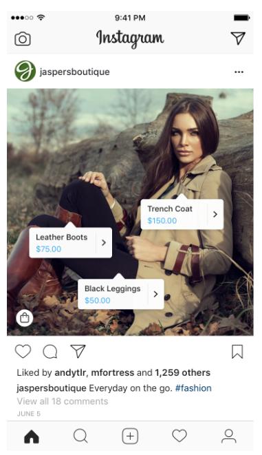 Торговые теги в Instagram