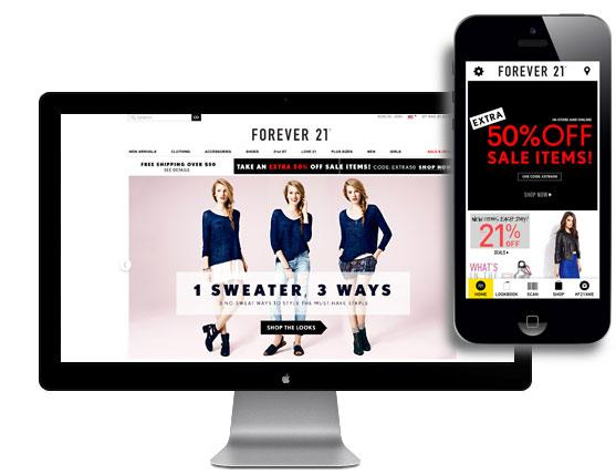 Mobile Campaign Forever21 Sociomantic Labs