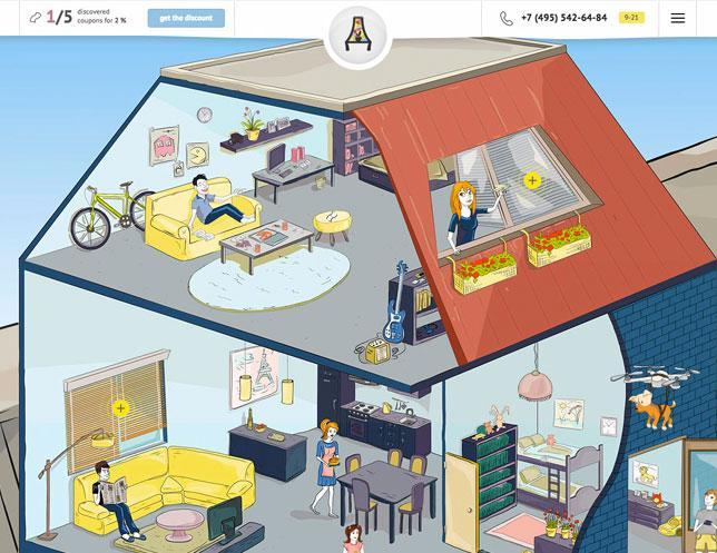 промо-сайт Дизайн окна